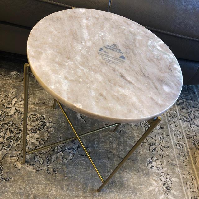 ZARA HOME(ザラホーム)のザラホーム 大理石テーブル インテリア/住まい/日用品の机/テーブル(ローテーブル)の商品写真