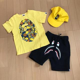 アベイシングエイプ(A BATHING APE)の専用 エイプ ミニオンズ 110 Tシャツ キャップ(Tシャツ/カットソー)