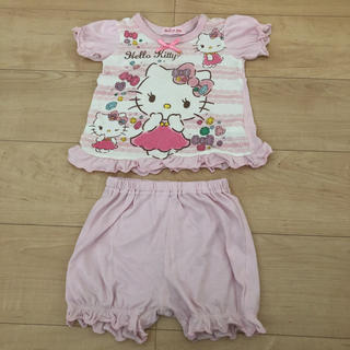 サンリオ(サンリオ)のキティちゃん 半袖パジャマ 80 女の子(パジャマ)