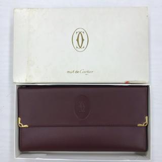 afa71dba513f カルティエ(Cartier)のカルティエ がま口 長財布 マストライン ボルドー 超美品です