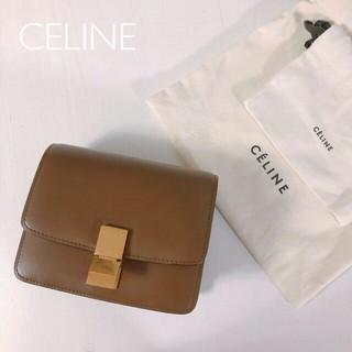 セリーヌ(celine)の【美品・人気】CELINE 2018年購入クラシックスモール ブラウンフィービー(ショルダーバッグ)