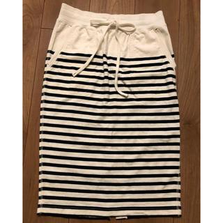 UNIQLO - UNIQLO ボーダータイトスカート ボーダースカート