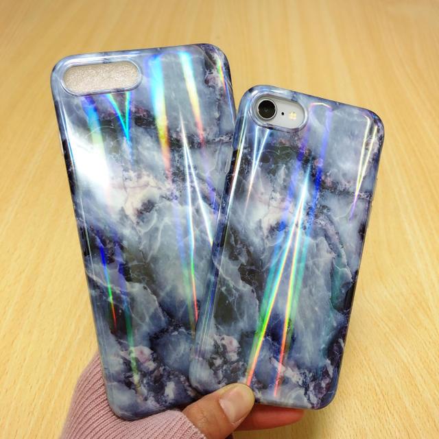 綺麗 ❤︎ 大理石柄 オーロラ iPhone7/8 ケース おしゃれ 艶々の通販 by noropochan's shop|ラクマ