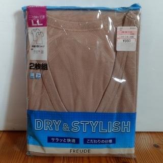 しまむら - ☆新品☆DRI&STYLISH 半袖V首シャツ2枚組 LL