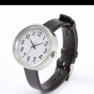 ムジルシリョウヒン(MUJI (無印良品))のソーラー式腕時計 本革ベルト 公園の時計 小 無印良品(腕時計)