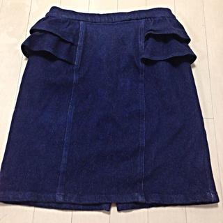 エディグレース(EDDY GRACE)のフリルデニムスカート(ミニスカート)