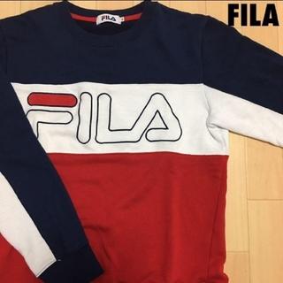 フィラ(FILA)の#3723 FILA フィラ トリコロール スウェット トレーナー(スウェット)