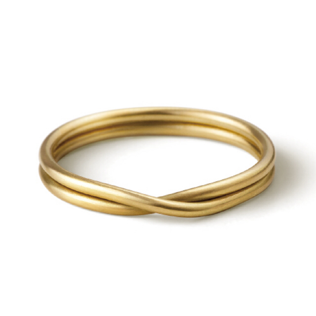 TOMORROWLAND(トゥモローランド)の【美品】SHIHARA ダブルリング ゴールド ピンキーリング 3号 レディースのアクセサリー(リング(指輪))の商品写真
