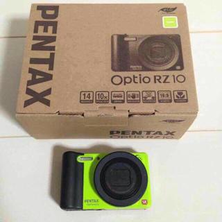 ペンタックス(PENTAX)のPENTAX デジタルカメラ Optio RZ10 ライム(コンパクトデジタルカメラ)