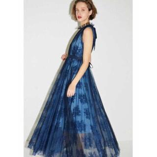 f189dd27a32e1 フレイアイディー(FRAY I.D)のフレイアイディー チュールアンドレースドレス ブルー(ロング