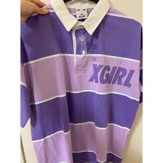 エックスガール(X-girl)のX-GIRL ラガーシャツ / ポロシャツ(ポロシャツ)