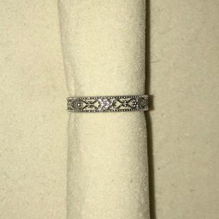 透かし模様 ホワイトゴールドダイヤモンドリング k10 (リング(指輪))