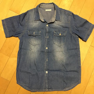 ジーユー(GU)のデニムシャツ ジュニア キッズ 140センチ(ジャケット/上着)