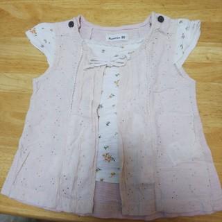 ビケット(Biquette)のレース風 半袖Tシャツ(Tシャツ)
