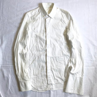 マルタンマルジェラ(Maison Martin Margiela)の美品 12ss メゾンマルタンマルジェラ H&M アシンメトリーシャツ 白 XS(シャツ)
