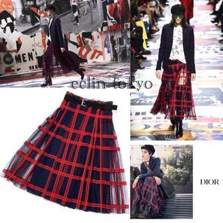クリスチャンディオール(Christian Dior)の2018AW ディオール 定価107万 レース ロングスカート E1403(ひざ丈スカート)