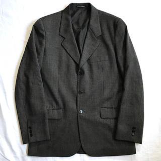 アニエスベー(agnes b.)の美品 agnes b. アニエスベー テーラードジャケット グレー黒 フランス製(テーラードジャケット)
