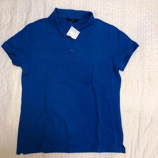 ジーユー(GU)のジーユー レディースポロシャツ ブルー(ポロシャツ)