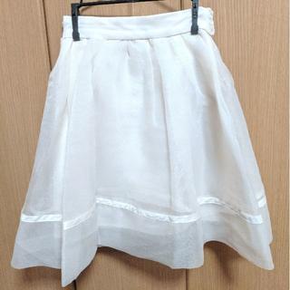 074e44235e4c5 スナイデル(snidel)のsnidel バックリボンオーガンジースカート(ひざ丈スカート)
