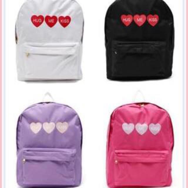 WEGO(ウィゴー)のWEGOハート刺繍リュック レディースのバッグ(リュック/バック