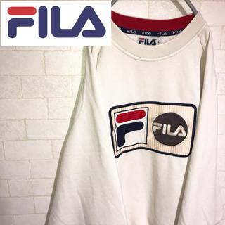 フィラ(FILA)のレア! フィラ FILA スウェット トレーナー ビッグロゴ 鹿の子 90s(スウェット)