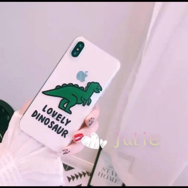 iphone xr ケース qi 対応 、 恐竜 怪獣 人気ソフトiPhoneケースお洒落なクリアケースの通販 by julie's shop|ラクマ