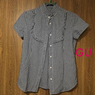ジーユー(GU)の🔸美品🔸GU ギンガムシャツ(シャツ/ブラウス(半袖/袖なし))