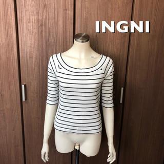 イング(INGNI)の【INGNI】オフショルボーダートップス(カットソー(長袖/七分))
