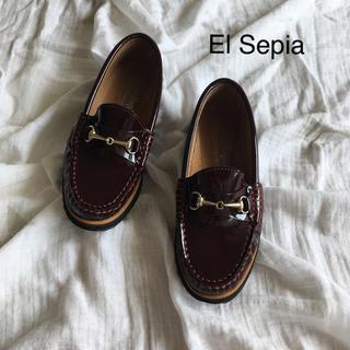 アーバンリサーチ(URBAN RESEARCH)の美品 エルセピア エナメル ローファー 35 22.0 22.5(ローファー/革靴)
