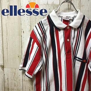 エレッセ(ellesse)の【激レア】ellesse  エレッセ トリコロール ストライプ ポロシャツ S(ポロシャツ)