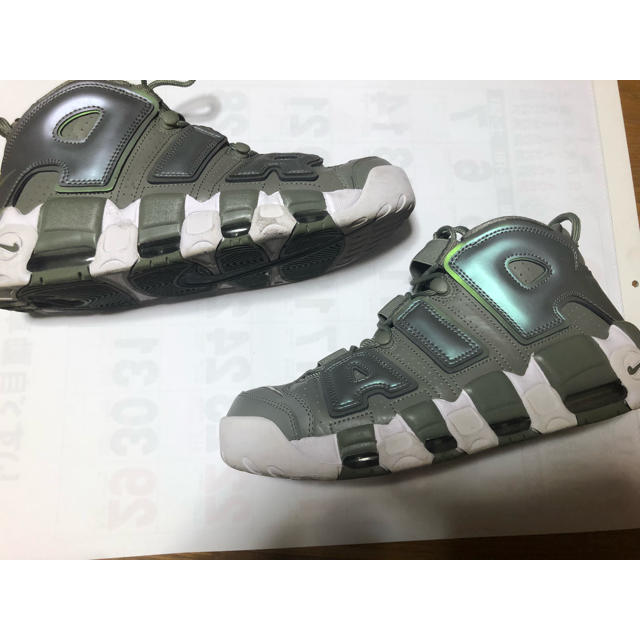 27.5cm AIR MORE UPTEMPO モアテン 緑