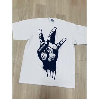 お値下げ street系  大きめ白Tシャツ(Tシャツ/カットソー(半袖/袖なし))