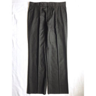 バーバリー(BURBERRY)の美品 バーバリー ウールスラックス チャコールグレー  黒 古着 ビンテージ(スラックス)