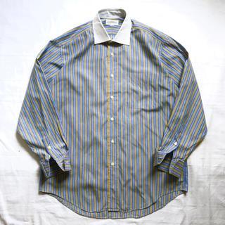 ジバンシィ(GIVENCHY)の美品 GIVENCHY ジバンシー ストライプシャツ ライトブルー 青 黄 白(シャツ)
