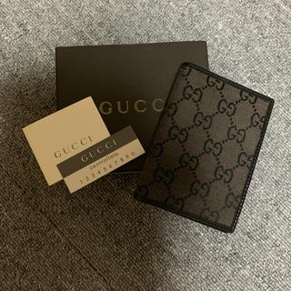 グッチ(Gucci)の新品 グッチ GUCCI カードケース ブラウン ブラック 定期入れ(名刺入れ/定期入れ)
