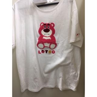 トイストーリー(トイ・ストーリー)の新品 ロッツォ Tシャツ ディズニー disney いちご もこもこ 4L(Tシャツ(半袖/袖なし))