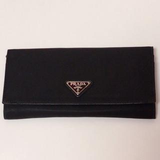 aece24858dc1 プラダ(PRADA)のPRADA ナイロン レザー 革 財布 ウォレット 黒 ブラック NERO(財布