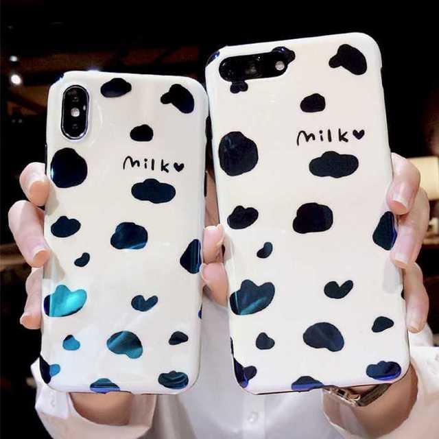 iphone x ケース ハイブリッド | iPhoneXS iPhoneX ケース 可愛い 牛 ミルク iPhoneカバーの通販 by トシ's shop|ラクマ