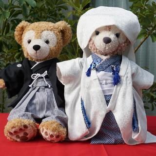 ダッフィー(ダッフィー)のダッフィー&シェリーメイのウエディング衣装 羽織袴と白無垢 青(その他)