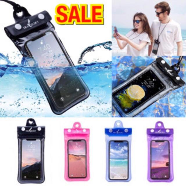 ☆新品☆おすすめ☆スマホ防水ケース iPhone パープル 海 おしゃれ プールの通販 by kazu's shop|ラクマ