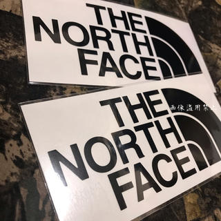 ザノースフェイス(THE NORTH FACE)の新品未使用 ノースフェイス カッティングステッカー 黒2枚セット(その他)