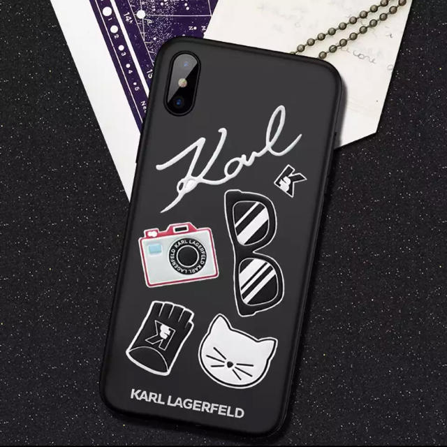 手帳型ケース / 【予約商品】カールラガーフェルド iPhoneケースの通販 by Noz |ラクマ