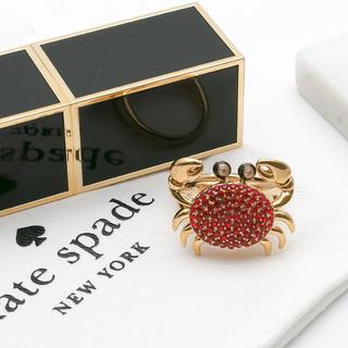 ケイトスペードニューヨーク(kate spade new york)の【新品¨̮♡︎】ケイトスペード カニ 蟹 リング(リング(指輪))
