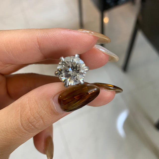 ダイヤ指輪 レディースのアクセサリー(リング(指輪))の商品写真
