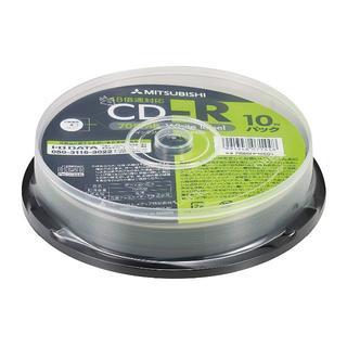 三菱ケミカルメディア Verbatim データ用 CD-R PR80FP10SD(DVDプレーヤー)