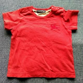 バーバリー(BURBERRY)の同梱可 バーバリー 赤色のワンポイントTシャツ 80サイズ(Tシャツ)