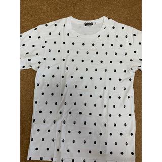 アベイシングエイプ(A BATHING APE)の激レアXLサイズ! BAPEドット猿顔Tシャツ白(Tシャツ/カットソー(半袖/袖なし))