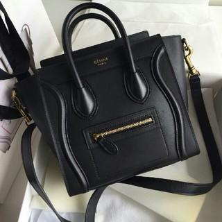 50ad06454805 セリーヌ(celine)のセリーヌ Luggage Micro ハンドバッグ 2WAY ブラック(ハンドバッグ)