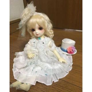 ボークス(VOLKS)の幼SD.幼天使サイズ/白×水玉ドットドレスセット/スーパードルフィー/ボークス(その他)