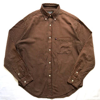 2726b5dacfc10 美品 ラルフローレン チェックシャツ 茶 赤 青 白 古着 ビンテージ S M